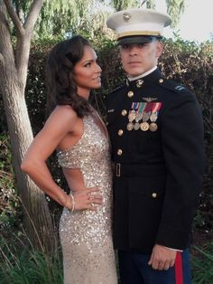 Marine Corps Ball Gown, Hollywood Glam
