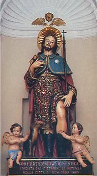 San Rocco/Saint Roc, patron saint protector from the plague and contagious diseases. Entombed in Venice.
