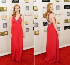 Jessica Chastain (Prada). Para más de moda y tendencias vidita el blog que además te asesora con tu imagen www.tuguiafashion.com