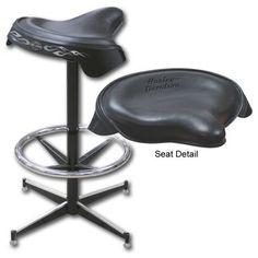 Harley-Davidson® HDL-12113 - Solo Saddle Seat Bar Stool | BeverageFactory.com