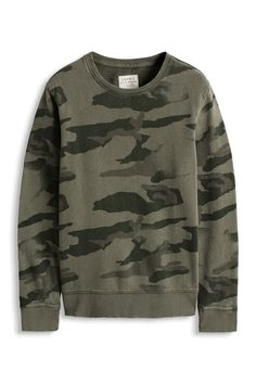 Two sweatshirts by ESPRIT: a) triangle b) camo