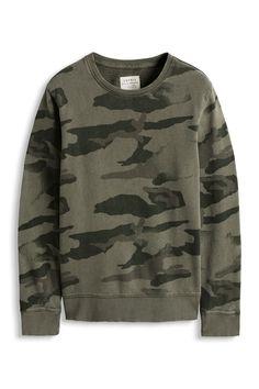 Two sweatshirts by ESPRIT: a) triangle b) camo
