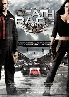 Death Race , starring Jason Statham, Joan Allen, Tyrese Gibson, Ian McShane. Ex-con Jensen Ames is forced by the warden of a notorious prison to compete in our post-industrial world's most popular sport: a car race in which inmates must brutalize and kill one another on the road to victory. #Action #Sci-Fi #Thriller