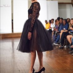 Tulle skirt and lace top Black tulle skirt and black lace top Yana Amina Skirts A-Line or Full