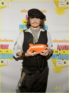 Johnny Depp again. Scarf. Actually everything he's got on is pretty rad. Just take away the, err, slime.....