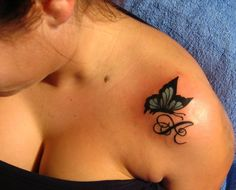 COLOR BUTTERFLY TATTOO by smarelda