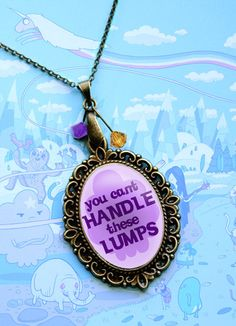 Adventure Time Quote Pendant Neckace  You by GeekyPrintsandMore, $18.00 <<< Cute gift idea! #FanX is coming April 2014! slcomiccon.com >>>