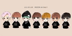 Bts Chibi, Fan Art, Cartoon, Cute, Anime, Kpop, Kawaii, Comic, Cartoons
