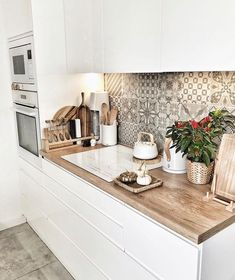 Kitchen Room Design, Modern Kitchen Design, Home Decor Kitchen, Interior Design Kitchen, Kitchen Furniture, New Kitchen, Home Kitchens, Cuisines Design, Apartment Kitchen