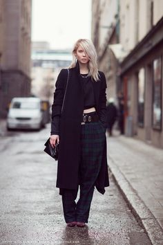 Hilda just slaying the  over skirt pants thang. Cool idea gone good. Carolines Mode   StockholmStreetStyle