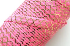 5/8″ Passionfruit Gold Quatrefoil FOE