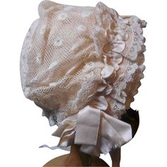 Frilly Antique Doll Bonnet!