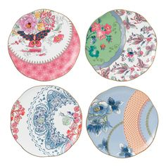 Browse beautiful vintage side plates, crockery sets & teaware at the Official Wedgwood Online Store. Shop fine bone china teaware directly from Wedgwood. Tadelakt, Pattern Drawing, Decoration Table, Home Living, Wedgwood, Plate Sets, Fine China, Kitsch, Tea Party