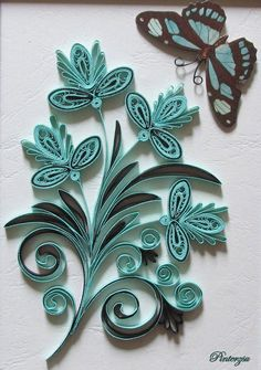 Quilling by pinterzsu on DeviantArt Arte Quilling, Quilling Jewelry, Quilling Butterfly, Paper Quilling Cards, Paper Quilling Flowers, Paper Quilling Patterns, Origami And Quilling, Quilling Craft, Quilling Ideas