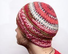 Striped hat for men. Fashionable colors. от LoveKnittings на Etsy