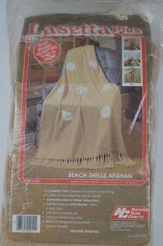 #National #Yarn #Craft #Lasetta #Plus #272,673 #Beach #Shells #Afghan #l57 #NationalYarnCrafts