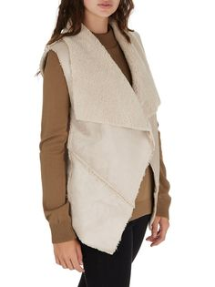 Faux Shearling Vest Milk