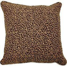 Brown & Tan Animal Print Pillow - Click Image to Close