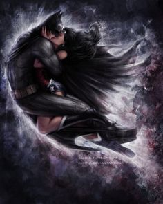 Kiss by jasric | deviantART. Just for reference this is Batman and Wonder Women