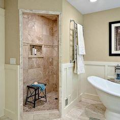 Relocating Walk-In Showers Water Lines Small Corner Bathroom ...
