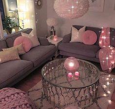 Romantic Living Room Decor With Valentine Themes 42 Romantic Living Room, Cozy Living Rooms, Apartment Living, Home And Living, Living Room Decor, Bedroom Decor, Apartment Ideas, Small Living, Bedroom Ideas