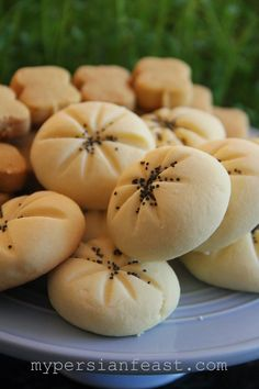 My Persian Feast: Rose and Rice Shortbread (GF) - Chickpea and Cardamom Shortbread (GF) - نان برنجی و نخودچی