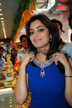 Jewellery Designs: Nisha Agarwal Displaying Diamond Ruby Necklace