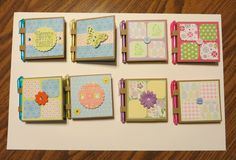 Post-It Note holders with miniature pens
