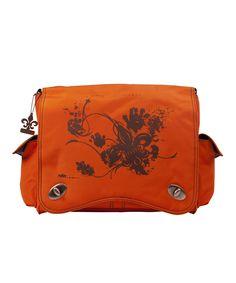 Look at this Kalencom Orange Sam Diaper Bag Set on #zulily today!