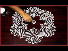 beautiful rangoli designs with 5x3 dots for beginners || simple kolam designs || chukkala muggulu - YouTube