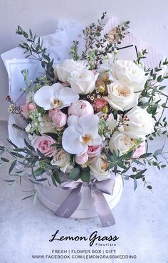 Flower Boquet, Bouquet Box, Floral Bouquets, Wedding Bouquets, Shade Flowers, Beautiful Flowers, Wedding Cakes With Flowers, How To Preserve Flowers, Arte Floral