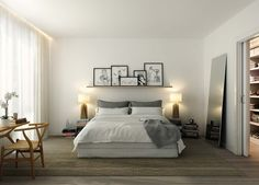 Virtual Interiors for KELLY shelf with leaning images mirror