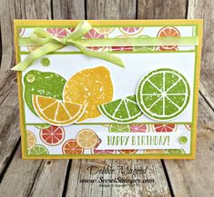 Picks from My Pals Stamping Community! (Mary Fish, Stampin' Pretty The Art of Simple & Pretty Cards) Simple Birthday Cards, Birthday Cards For Women, Stampin Pretty, Stampin Up, Mary Fish, Cute Fruit, Bird Cards, Stamping Up Cards, Card Making Inspiration