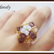Special!White Opal Amethyst Diamond Ring - via @Craftsy