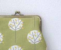 Large Moonlight Tree Olive Green coin purse by LouiseBrainwood, £22.00