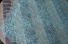 Shetland lace square hand knitted cobweb от FastMelodicShawls