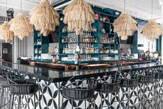 For restaurant decor ideas, check out what our Designer Spotlight, House of Nomad has created. This cantina brings a unique flare to local dining. Modern Restaurant Design, Nomad Restaurant, Interior Design Studio, Inspired Homes, Boutique, Bars For Home, Stores, Decoration, Coffee Shop