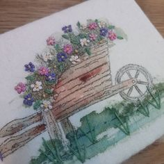 #Embroidery#stitch#needlework  #프랑스자수#일산프랑스자수#자수 #린넨에 색칠하고 자수 ~ 바늘집