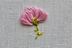 loopy flower embroidery tutorial