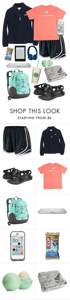 """""""Roadtrip"""" by taylorbenson ❤ liked on Polyvore featuring NIKE, Vineyard Vines, Chaco, The North Face, LifeProof, Eos, Pier 1 Imports and Beats by Dr. Dre"""