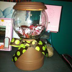 DIY gum ball machine. (: