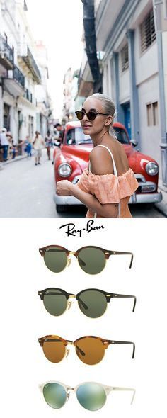 Don't forget the Summer vibes! Be stylish everywhere, with Ray-Ban Clubaround RB446 #sunglasses. www.visiondirect....