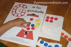 G is for Gumball Printables (from The Measured Mom)