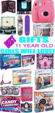 Top Gifts For 11 Year Old Girls! Best suggestions for gifts & presents for a girls eleventh birthday, Christmas or just because. Find the best gifts, toys, makeup, beauty, cooking, baking, electronic, games, room decor for a girls 11th bday or Christmas. Get the best gift ideas now for tweens!