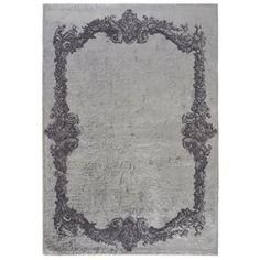 5700 bavlna viskoza Šedý koberec Tulos Grey, 120x180 cm