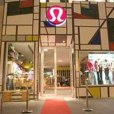 Our Lush glass subway tile comes in a rainbow of colors. This Lululemon  store uses
