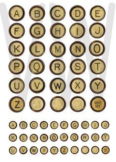 VINTAGE TYPEWRITER KEYS  worn rusted ivory by vintagewarehouse, $2.00