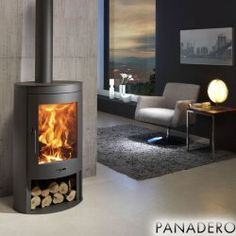 The Oval - 11kw Contemporary Wood Burning Stove - £1,291.68 : Wood Burning Stoves, Modern Multifuel Stoves and Chimney Flue Pipe
