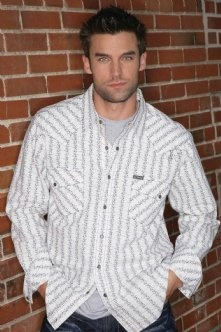 Mens Western Snap Shirts : White Wallpaper Shirt - Southern Thread On Line Store