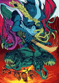 My contribution to Slashthree's artist project based around the concept of 'discovery'. 'The best part about creating art, to me, is that you can literally create whatever you want. Monster Design, Monster Art, Arte Horror, Horror Art, Hyper Beast Wallpaper, Dope Kunst, Acid Art, Artist Project, Fantasy Kunst